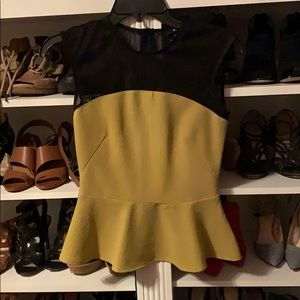 Gold and black flare top